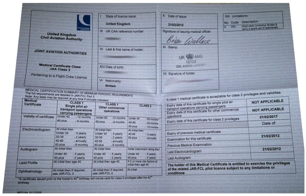 Class 2 Medical Certificate