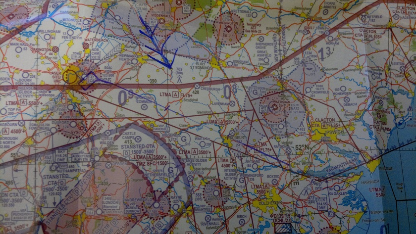 Map Marked for East Bergholt
