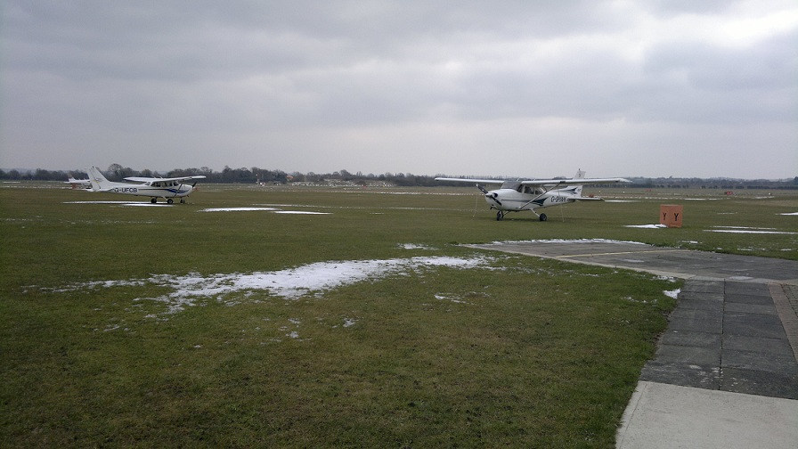 G-SHWK in the Snow