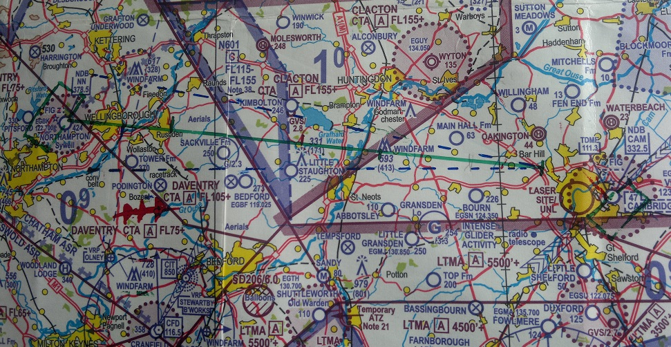 Chart: Cambridge to Sywell