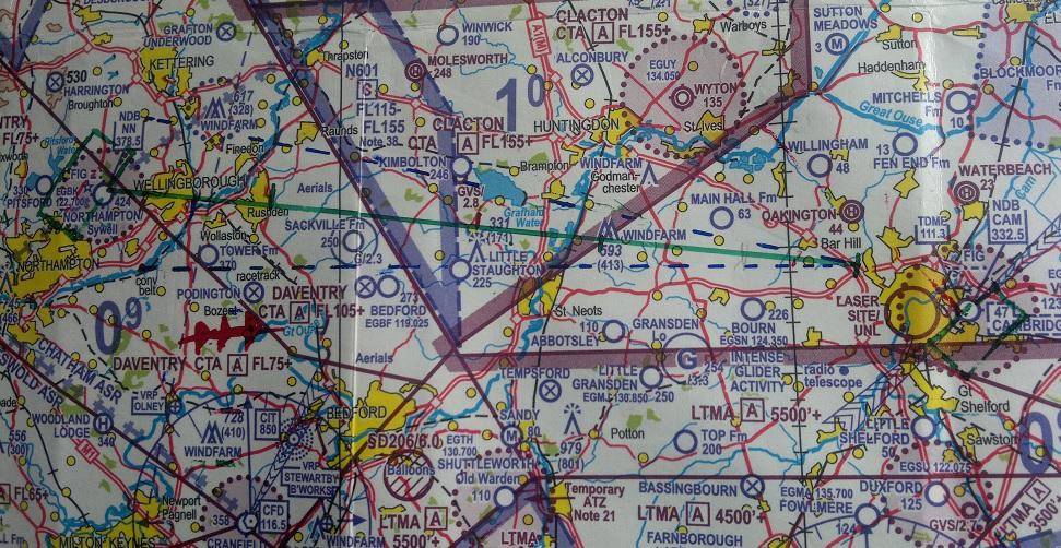 Chart: Cambridge to Sywell