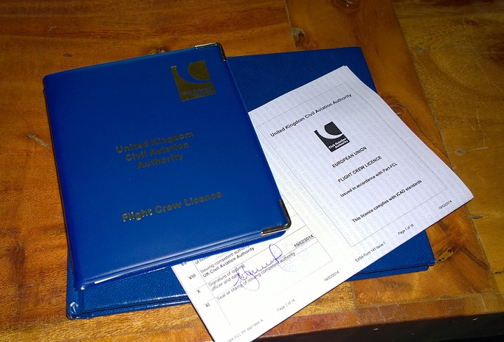License & Log book