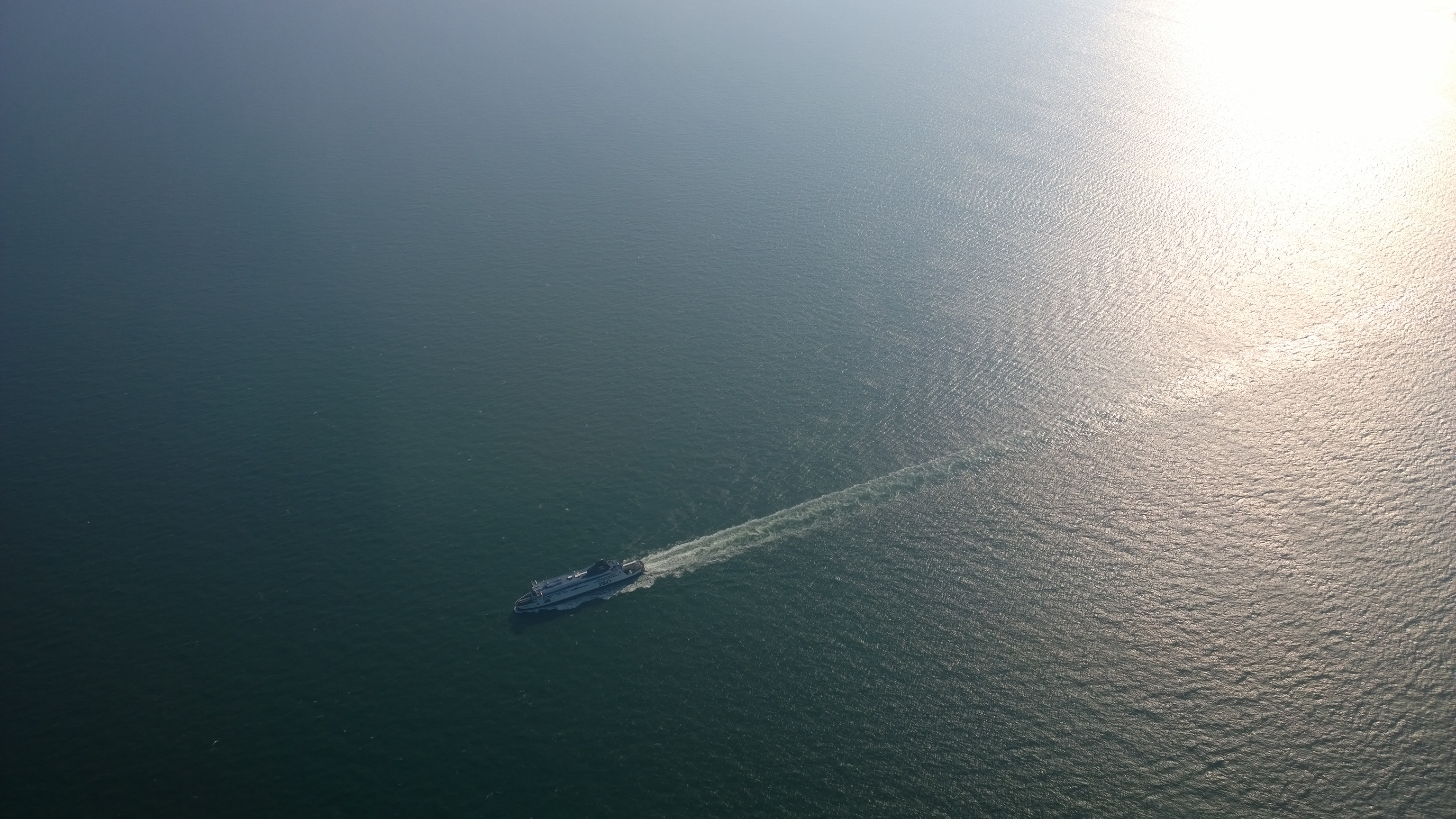 P&O Ferry from above