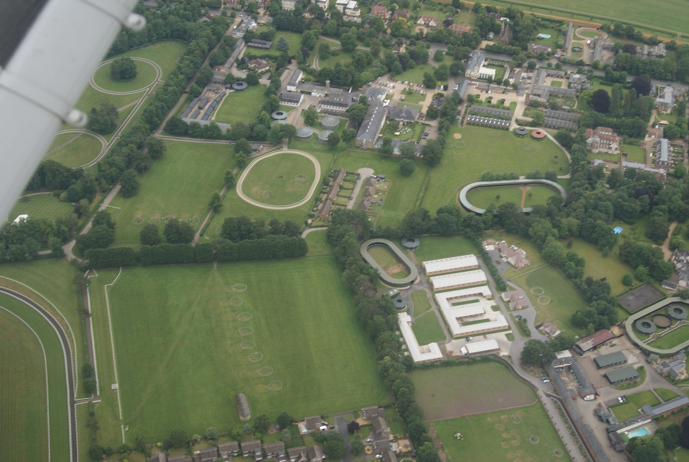 Overhead Newmarket (Famous for Horse Racing)