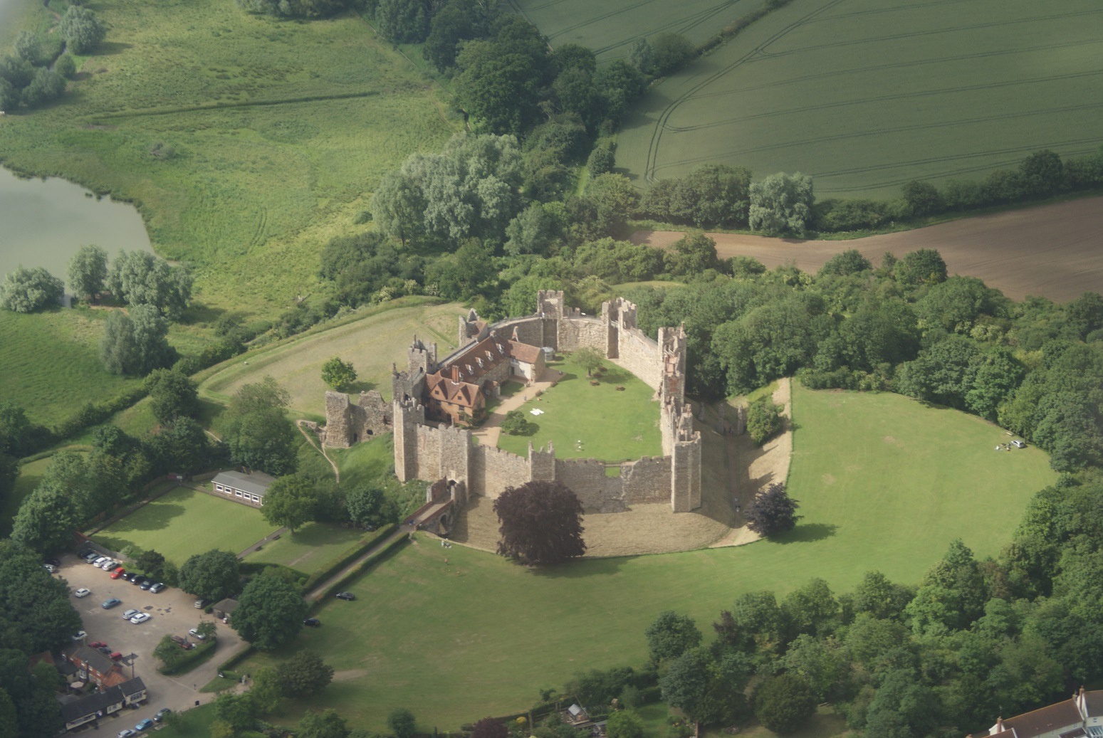 Framlingham Castle - from the air.