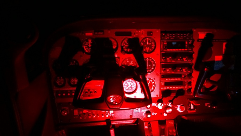 C172 under Red Illumination