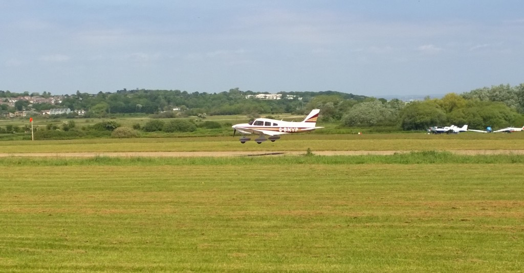 Plane Landing at Bembridge