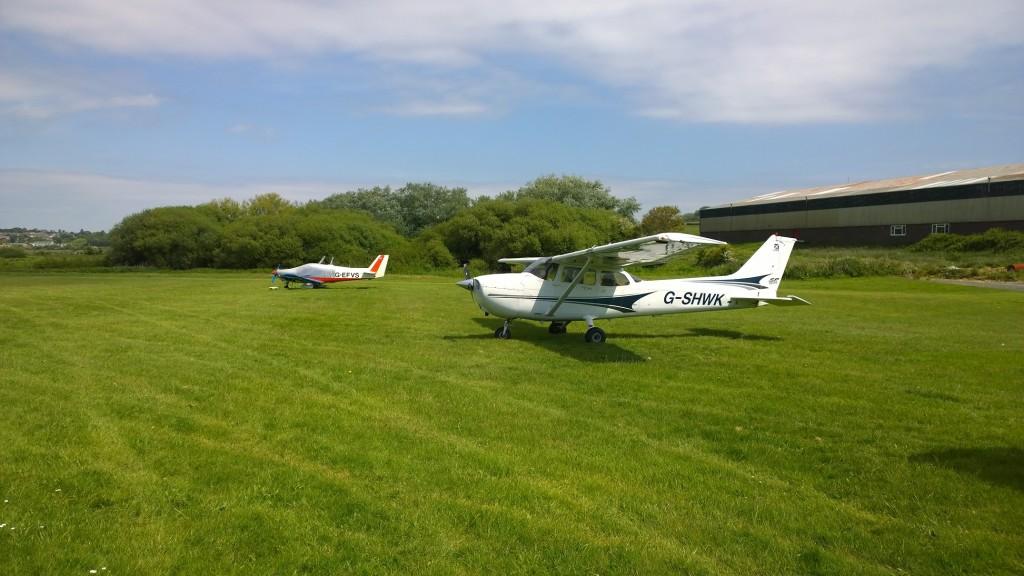 G-SHWK: Parked at Bembridge