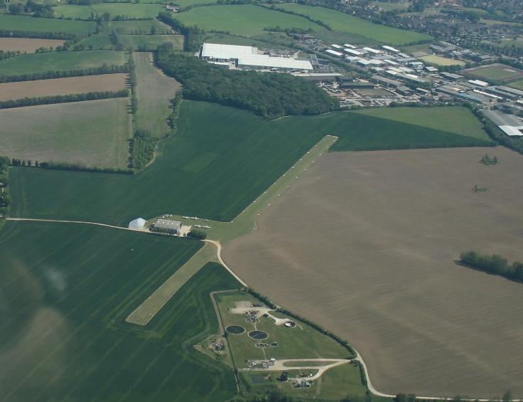 Rayne Hall Farm Overhead (From the West)